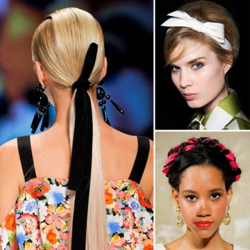 Be a fashionista - wear ribbon in your hair